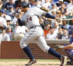 Miguel Cabrera sporting his New Balance cleats.  It must be the shoes helping him hit all of those homeruns!