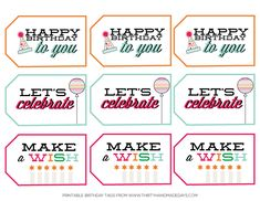 Birthday Printable Tags from www.thirtyhandmadedays.com