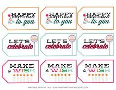 Birthday Printable Tags from www.thirtyhandmadedays.com