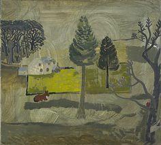 """Walton Wood Cottage no.1"" by Ben Nicholson, 1928 (oil on canvas)"