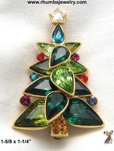 Beautiful Christmas tree pin