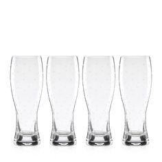 kate spade new york Larabee Dot Wheat Beer Glass, Set of 4