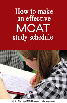 MCAT blog post on making an effective MCAT study schedule