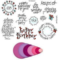 Stamp Set 416 - Happy Birthday Spellbinders Combo Set