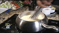 The melting pots cheese fondue