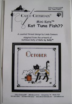 Calico Crossroads Kats By Kelly October  Kat Tuna by CSCDestash, £5.00