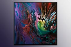 Acrylic Abstract Painting modern abstract art Cosmic by SagiArt, $180.00