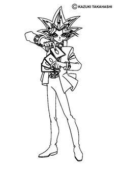 yu gi oh coloring page more manga coloring sheets on hellokidscom