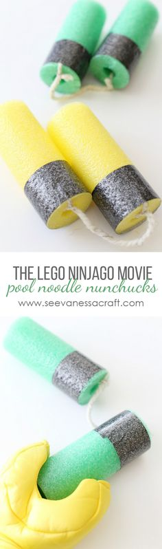 DIY LEGO Ninjago Movie Pool Noodle Nunchucks copy