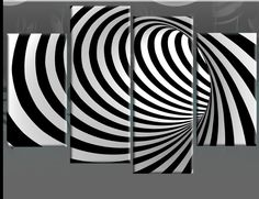 Black White Abstract Art