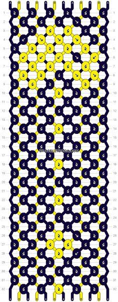 Normal Pattern #10679 - Pac Man Friendship Bracelet