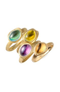Marco Bicego 'Confetti Gemme' Stacking Ring. to wear all together...