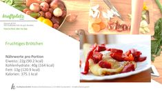 Eine süsse Sünde wert, das Fruchtige Brötchen, sehr gut geeignet als Snack 😉 Blog, Food Portions, Recipies, Blogging