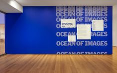 Ocean of Images: New Photography 2015 - The Department of Advertising and Graphic Design Museum Exhibition Design, Exhibition Display, Environmental Graphic Design, Environmental Graphics, Ocean Photography, Image Photography, Signage Design, Branding Design, Identity Branding