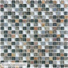 "Bliss 5/8"" x 5/8"" - Smoky Mica Mosaic By SouthCypress.com"