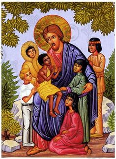 Icons of Jesus Christ and the Theotokos, His Mother (Fr. Luke (Rolland) Dingman is the artist).Those who all so Love Jesus. Religious Images, Religious Icons, Religious Art, Religion, Bless The Child, Bible Illustrations, Byzantine Icons, Orthodox Christianity, Sacred Art