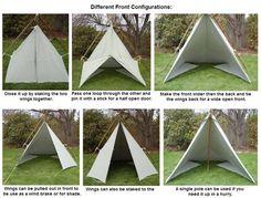 tarp tent configurations - Google Search