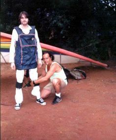 Kurt Cobain  about to go hang gliding in Rio de Janeiro, Brazil on January 18, 1993