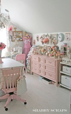 Shabby Chic Pink And White Paint Layers Petticoat JUnktion before ...