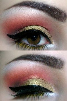 Orange and yellowish gold are cute for the summer
