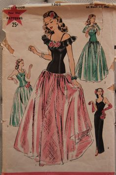 1940s Hollywood Evening Gown