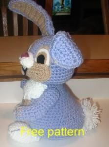 Happy Bunny free pattern on Crochetville at http://www.crochetville.com/community/topic/33311-happy-bunny/