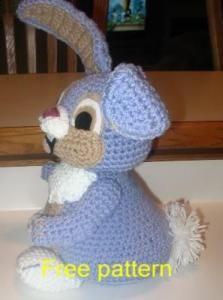 Happy Bunny free pattern on Crochetville at http://www.crochetville.com/community/topic/33311-happy-bunny/