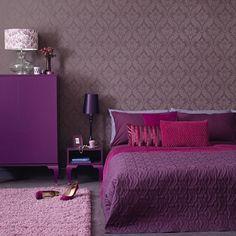 Mor Yatak Odası Dekorasyonları
