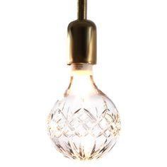 Love exposed light bulbs. But these are beyond that. Who needs chandeliers?    Lee Broom's Crystal Bulb