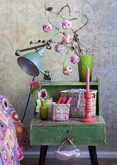 Griff- und Blumenkörbchen Alice in Grün