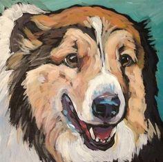 """Daily Paintworks - """"Beau"""" - Original Fine Art for Sale - © Kat Corrigan"""