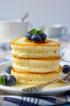 Hottokeki (Japanese Hot Cake)    The Hubs and I just devoured a plate of these delicious cakes. I used buttermilk and a banana in the batter and topped mine with a honey and mixed berry compote. Let them eat cake! Amazing recipe! I may never eat pancakes again!