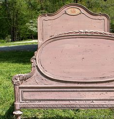 Vintage Bed Painted With MMS Milk Paint, Petticoat Junktion