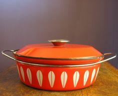 Vintage orange casserole. Notice a pattern here?