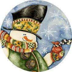 navidad- muñeco de nieve ii Mis Laminas para Decoupage (pág. 639) | Aprender manualidades es facilisimo.com