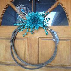 Western Decor Lariat Roping Rope Wreath Home Or by RopinWreaths, $35.00