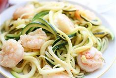 Turn healthy zucchini noodles into a luxurious meal with shrimp scampi