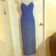 "Spotted while shopping on Poshmark: ""Stunning, sparkly blue dress""! #poshmark #fashion #shopping #style #Be Smart #Dresses"