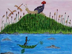 Life On The River Bank by PaintingsByMelinda.