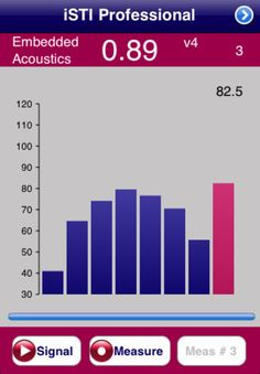 iSTI Professional iPhone and iPad app by Embedded Acoustics. Genre: Utilities application. Price: $399.99.
