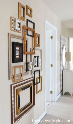 image empty frames wall art | Empty Frames - DIY Wall Art