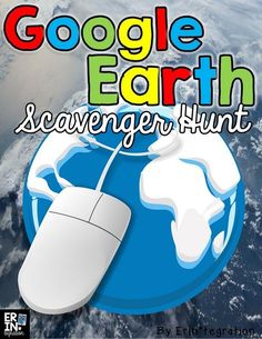 FREE scavenger hunt on Google Earth. (replace Brain Pop video with free YouTube video on latitude and longitude).