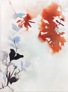 Abstract Watercolor Flora 31 by Marta Spendowska, VERYMARTA, Polish-American…