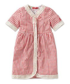 Oilily | Red Plaid Darling Dress - zulily
