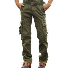 Mens Tactical Overalls Pants Military Security Cargo Combat Trousers Slacks New Cargo Pants, Khaki Pants, Stylish Men, Parachute Pants, Overalls, Trousers, Military, Fashion Outfits, My Style