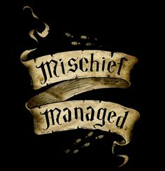 'Mischief Managed Banner' Photographic Print by Serdd Harry Potter Tattoos, Harry Potter Quotes, Harry Potter Movies, Harry Potter World, Hp Quotes, Harry Potter Canvas, Harry Potter Marauders Map, The Marauders, Mischief Managed Tattoo