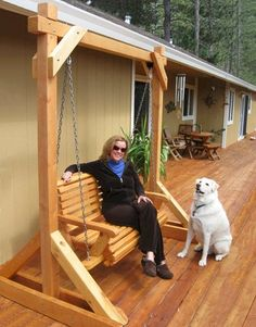 The finest best built Bench Swing Sets on the market. These lovely garden bench swings are truly built to last decades in any weather. Outdoor Wooden Swing, Wooden Swing Chair, Bench Swing, Wooden Swings, Swinging Chair, Outdoor Swing Seat, Modern Gazebo, Wood Pallet Planters, Off Grid Tiny House