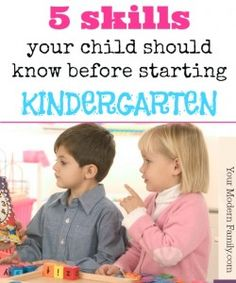 A Kindergarten Readiness Checklist - for life skills! These 5 things will help your child feel more independent and ready for Kindergarten. Before Kindergarten, Starting Kindergarten, Kindergarten Readiness, School Readiness, Preschool Kindergarten, Preschool Learning, Fun Learning, Preschool Activities, Teaching Kids
