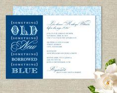 """Something Blue"" themed invites-Something+Old+New+Borrowed+Blue+Bridal+Shower+by+plushpaper,+$25.00"