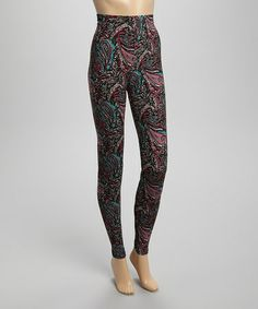 Look what I found on #zulily! Plum Paisley Leggings - Women by MJ Designs #zulilyfinds